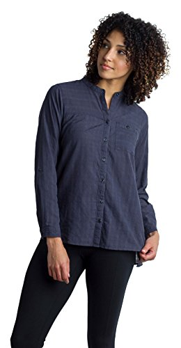 Carry On Long Sleeve - ExOfficio Women's BugsAway Collette LS Shirt, Carbon, Small