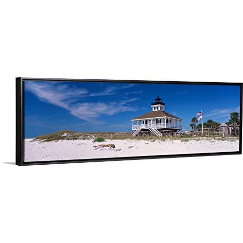 Port Boca Grande Lighthouse, Gasparilla Island State Park, Florida Black Floating Frame Canvas