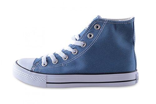Basic Schnürschuh Damen Leinwand Canvas 46 36 Unisex Sneaker M in High Größe Herren verschiedenen Green Farben rCqXqt0