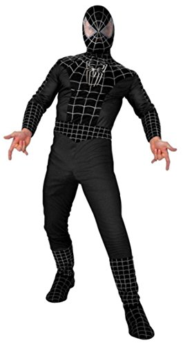 Stan Lee Signed Marvel Black Spiderman Full Adult Costume W/Stan Lee Hologram