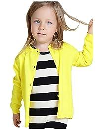 2Bunnies Girls Basic Simple Essential School Uniform Cardigan Sweaters