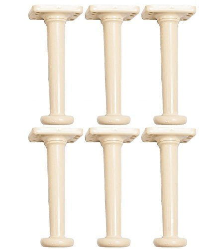 Adjustable Bed Risers 10 Inch Twin Set of 6 by Universal Bedlegs Inc.
