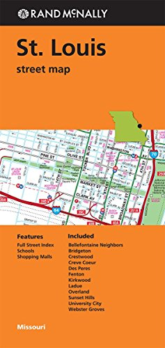 Rand Mcnally  Folded Map  St  Louis Street Map  Rand Mcnally Street Map