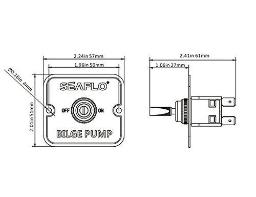 SEAFLO 2-Way On//Off Switch Panel for Bilge Pumps 12v 24v
