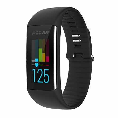 Polar A360 Fitness Tracker with Wrist Heart Rate Monitor (Black, Medium) by Polar