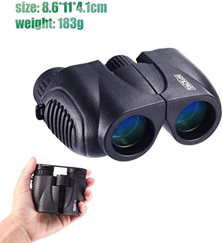 Binoculars Compact Folding Telescope 10 x 22Dust Proof for Kids Concert Bird Watching Traveling Hand Strap and Carrying Bag Included - MBC03