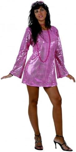 ATOSA Disfraz Disco años 80, Brillo. Mujer. Talla M/L. Incluye ...