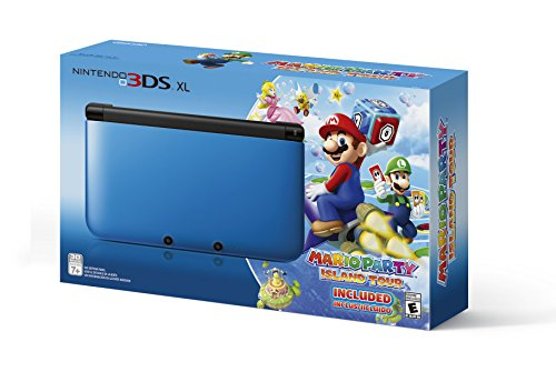 Nintendo 3DS XL Blue/Black Limited Edition with Mario Party: Island Tour Game (Nintendo 3ds Xl Bundle Best Price)