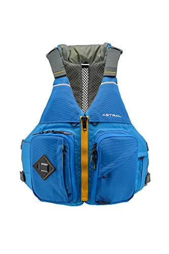 Astral Ronny Fisher Life Jacket PFD for Fishing, Recreation, and Touring Kayaking, Ocean Blue, -