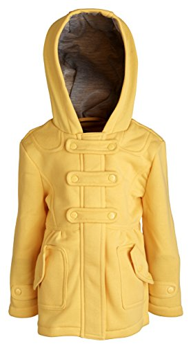 Urban Republic Girls and Baby Hooded Dressy Jersey Knit Fleece Hoodie Jacket - Yellow (12 Months)