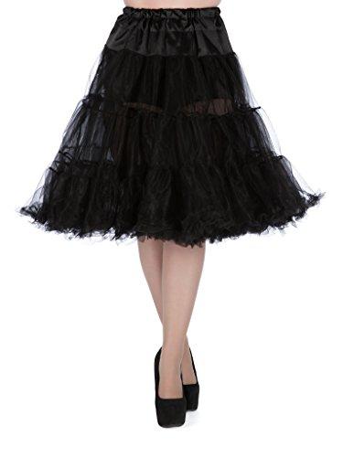 Lady Vintage - Enaguas cortas - para mujer negro