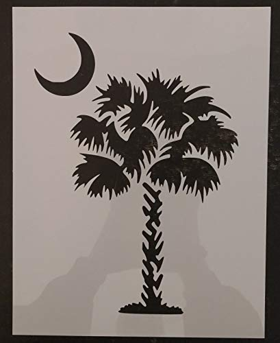 OutletBestSelling Reusable Sturdy South Carolina Palmetto Moon Palm Tree 8.5