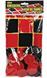 Toys : 25 Piece Plastic Jumbo Checkers Game Set