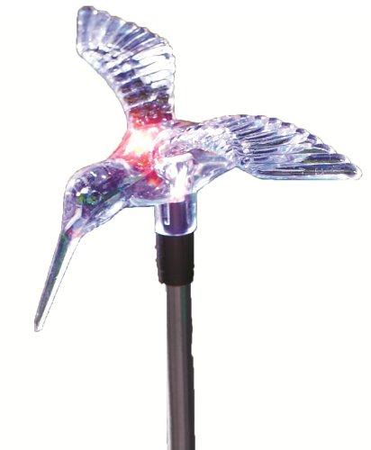 Moonrays 98006 Solar Stake Light Hummingbird Outdoor Decorat