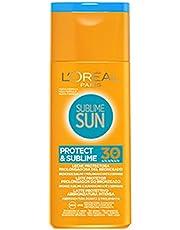 L'Oréal Paris Protezione Solare Sublime Sun Protect & Sublime, Protezione Solare Media IP30, Latte Protettivo Abbronzatura Intensa, 200 ml