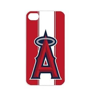MLB Major League Baseball Los Angeles Angels of Anaheim iPhone 4 / 4s TPU Soft Black or White case (White)
