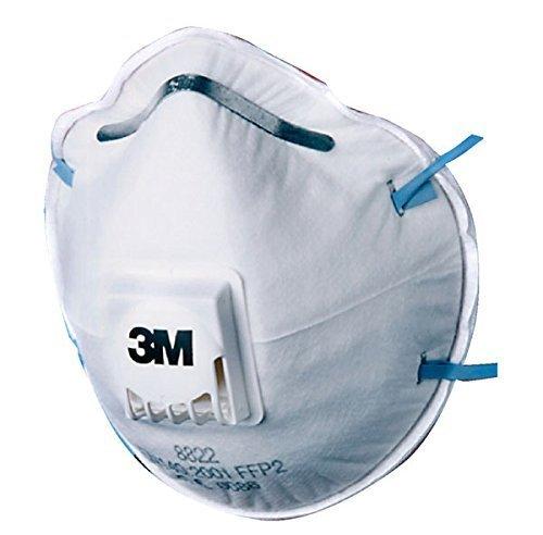 3M Atemschutzmaske mit Ventil 10er Pack - 8822 - Sicherheitsstufe FFP2