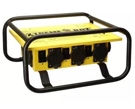 Coleman Cable 01972-3R-02 Temporary Power Distribution Box, 50 Amp 125/250V