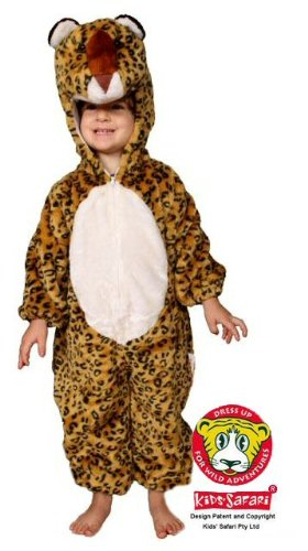 Safari Plush Costume Leopard- Small