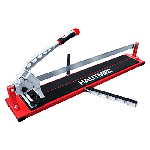 HAUTMEC 32-Inch Rip and 22-Inch Diagonal Manual Tile Cutter with Tungsten Carbide Scoring Wheel for Porcelain and Ceramic Tiles TL0001