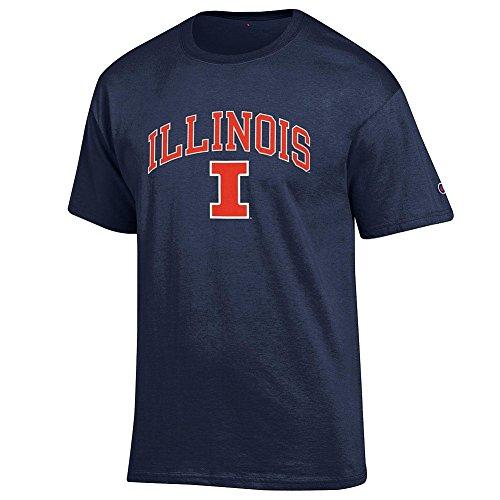 Illini T-shirts - Elite Fan Shop Illinois Fighting Illini Tshirt Varsity Navy - L