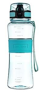 SWIG SAVVY 22 oz Tritan Water Bottle Eco Friendly & BPA-Free Plastic,Leak Free One-Click Flip Top open Ideal For Sports Yoga, Camping, Biking, Jogging (Green)