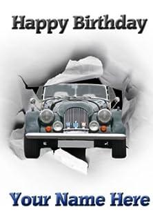 A5 personalised mg midget car birthday card refpid999 amazon a5 personalised morgan 8 car happy birthday card refpid011 bookmarktalkfo Images