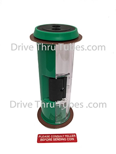 Banking Drive Thru Straight Body Carrier, Half Colored Green 4.5