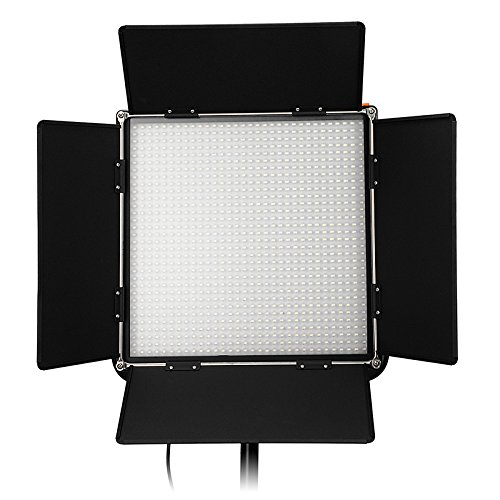 Fotodiox Pro LED-1024ASL, Professional 1,024 LED Dimmable and Bi-Color, Dual Color Adjustable Photo Video Light Kit with Barndoor and LCD Touchscreen Control, Still / Video LED Light Kit, with Dimmable Control, 12V AC Power Adapter, Light Stand Yoke Brack by Fotodiox (Image #2)