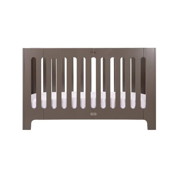 Bloom Alma Max Modern Folding 3-in-1 Convertible Crib in Frosted Grey (US Full Size)