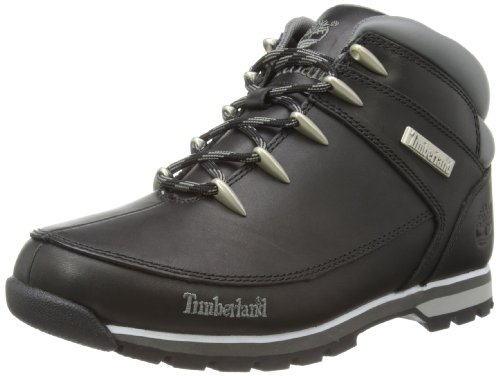 Timberland Men's Euro Sprint Black Smooth Leather Hiking-...