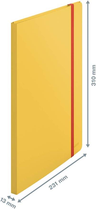 46700089 20 Klarsichth/üllen f/ür 40 Blatt Leitz A4 Sichtbuch Cosy-Serie Samtgrau