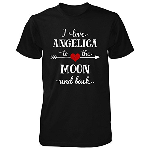 I Love Angelica To The Moon And Back.gift For Boyfriend - Unisex Tshirt