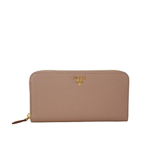 Prada Women's Saffiano Zip-Around Wallet Blush