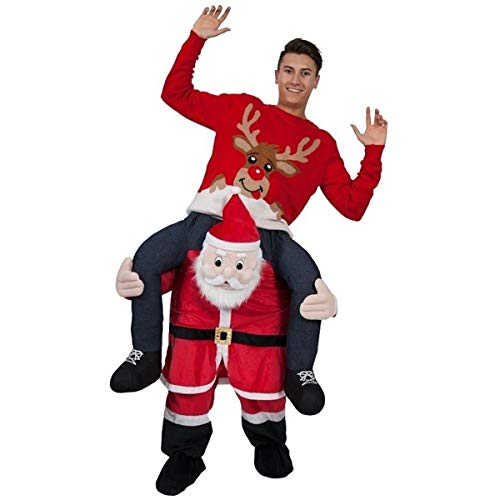 Novelty Carry Me Ride On Easter Mascot Costume Animal Funny Fancy Dress Pants-New Style Santa Claus -