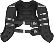 Yes4All Workout Weighted Vest – 10lb Exercise Weighted Vest for Strength Training, Running, Fitness, Muscle Bu