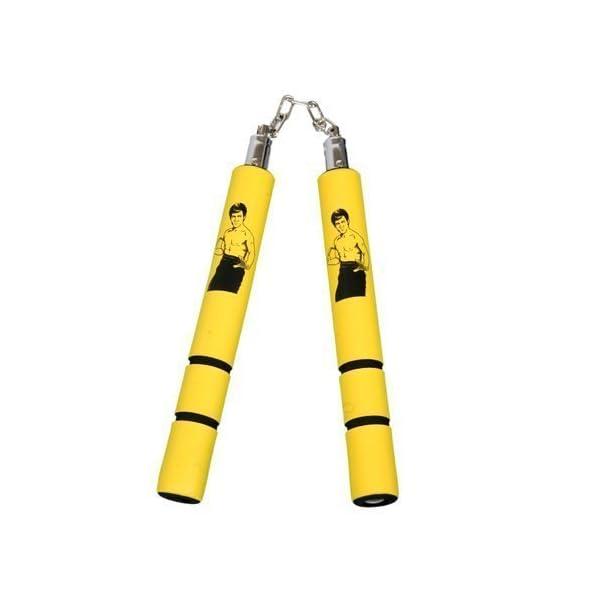 Playwell-Foam-Rubber-Safety-Training-Nunchucks-Yellow-Bruce-Lee