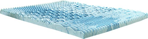 Lane GelLux Cooling Memory Foam Mattress Topper, 3″ King