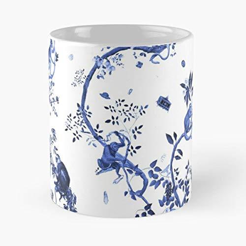 (Jouy Toile Blue - Ceramic Mugs)