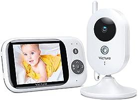 """Victure Babyphone Caméra Moniteur bébé 3.2"""" LCD Couleur Vidéo Bébé Surveillance 2.4GHz Transmission, Vision Nocturne,..."""