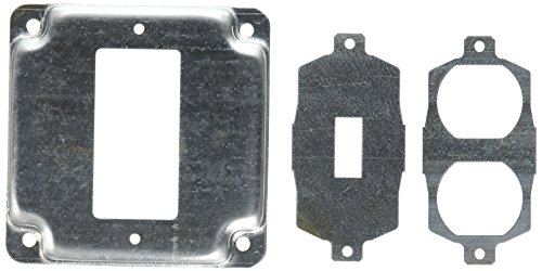 Hubbell-Raco 808U 1/2-Inch Raised Square Cover with Exposed Work 1 GFCI Duplex or Toggle, -