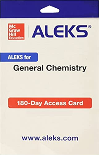 Aleks for general chemistry access card 1 semester aleks aleks for general chemistry access card 1 semester 1st edition fandeluxe Choice Image