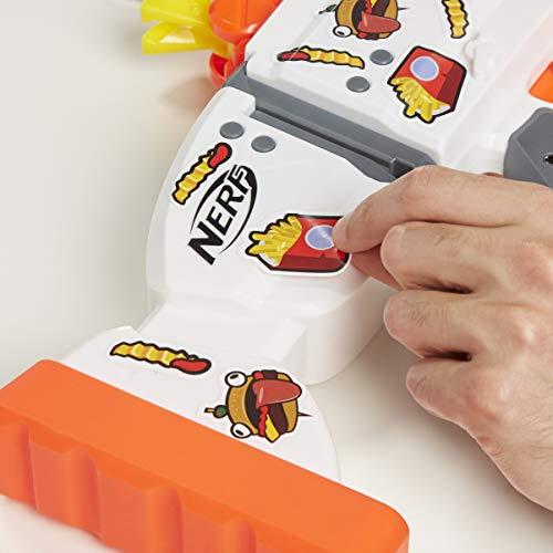 41rDxDrgLTL - NERF Fortnite AR-Durrr Burger Motorized Blaster -- Customizing Stickers, 20 Darts, 10-Dart Clip -- for Youth, Teens, Adults (Amazon Exclusive)