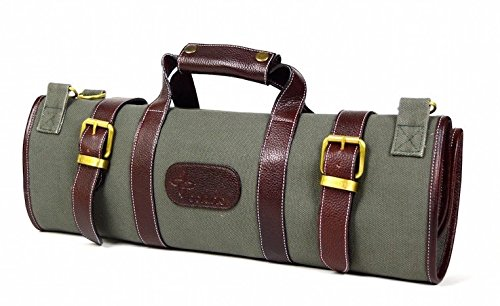 Boldric Canvas Knife Bag 17 Pocket - Green by Boldric