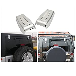 Wotefusi Chrome Hardtop Liftgate Rear Window Hinge Covers