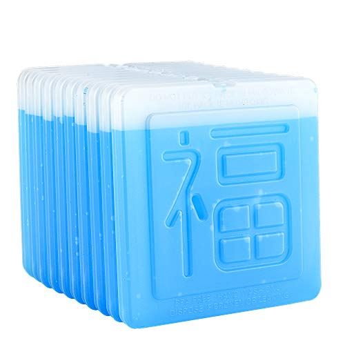 OICEPACK Ice Packs (set of 10) Ice Packs for Lunch Box Ice Packs for Cooler Lunch Boxes Cool Packs Flat Ice Packs Fit all Kinds of Lunch Boxes Chinese Happiness Character