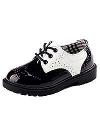 DADAWEN Children's Boy's Girl's Oxford Dress Shoe (Toddler/Little Kid/Big Kid)