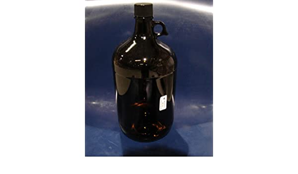 with PTFE liner Daniels Scientific APC1300 4 Liter 1 Gallon 38mm Amber Jug 4 per case.