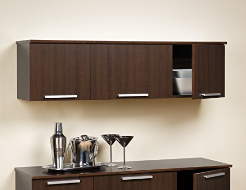 Espresso Coal Harbor Wall Mounted Hutch (Bar Hutch And)