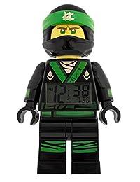 LEGO NINJAGO MOVIE 9009204 Lloyd Kids Minifigure Light Up Alarm Clock | green/black | plastic | 9.5 inches tall | LCD display | boy girl | official